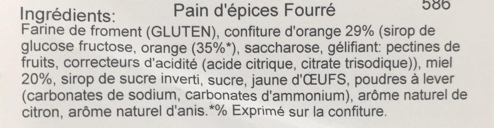 Demie Bande Fourrée - Ingrediënten - fr