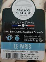 Emincés champignons de Paris - Nutrition facts