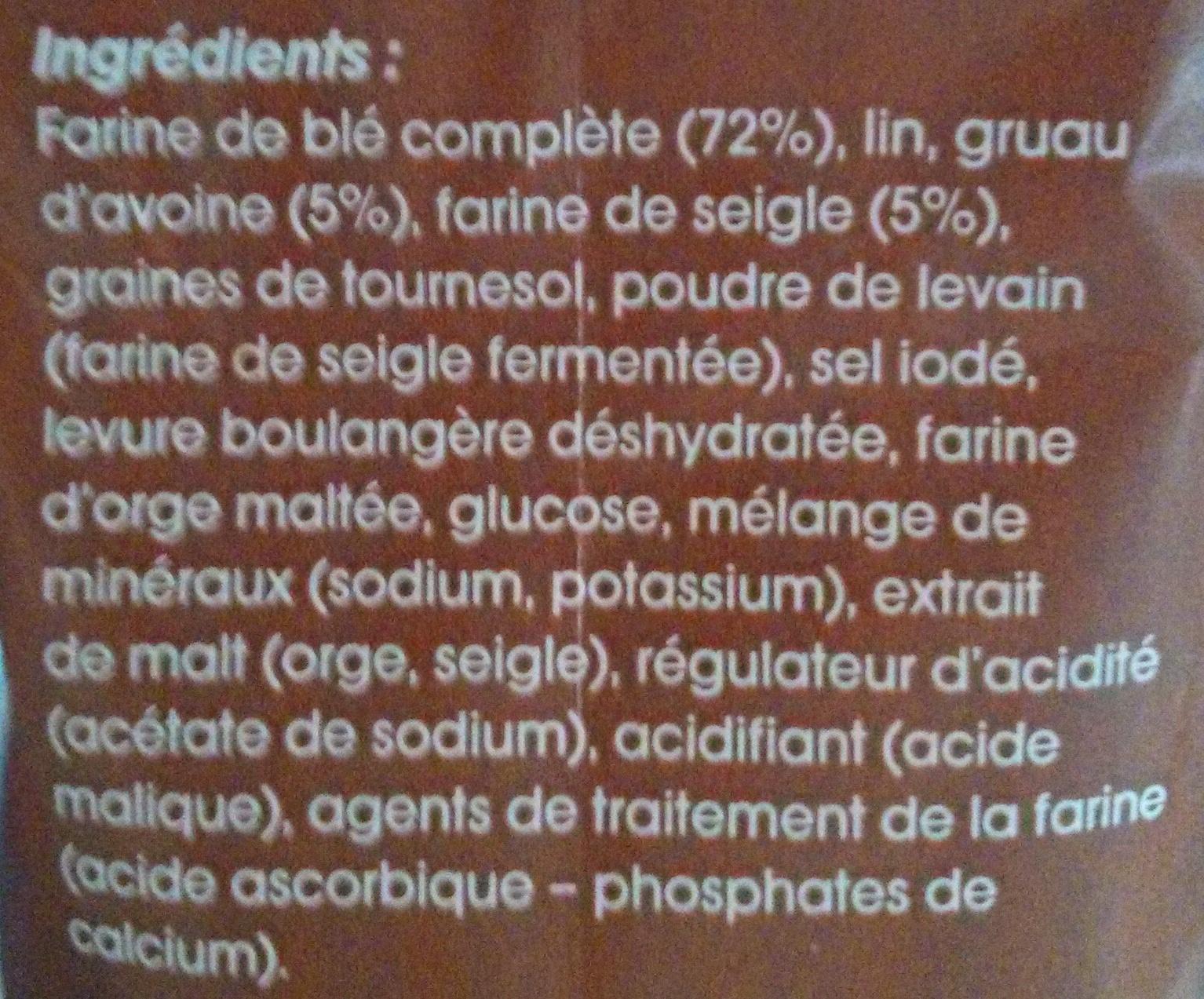 Mon Fournil, Préparation pour pain aux céréales - Ingrediënten
