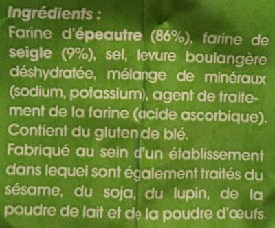 Pain d'épeautre - Ingrédients - fr