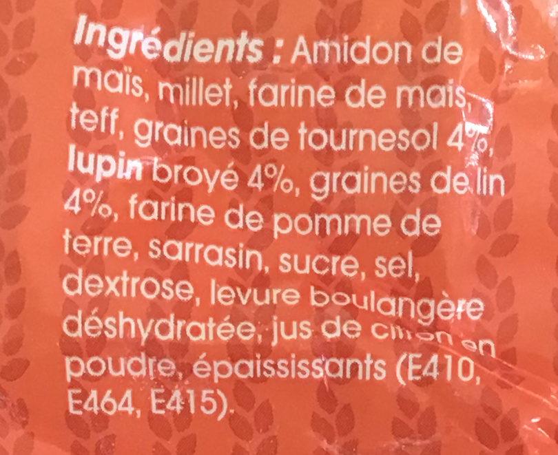 Pain aux graines sans gluten - Ingrediënten