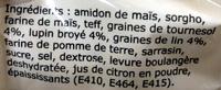 Mon fournil préparation pour pain aux graines sans gluten - Ingrédients