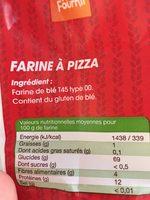 Farine à pizza T00 - Ingredients - fr