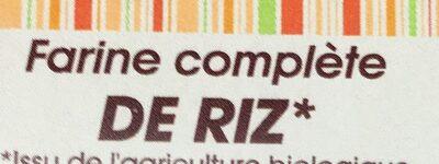 Farine complète de riz - Ingrédients - fr