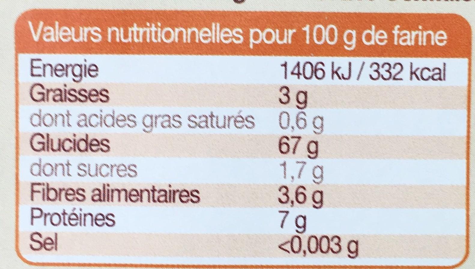 Farine complète de riz - Informations nutritionnelles - fr
