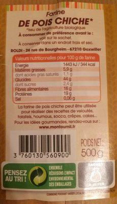 Farine de pois chiches Bio - Ingredients