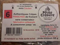 6 Authentiques Crêpes Fraîches de Froment - Product - fr