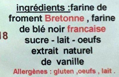 6 Authentiques Crêpes Fraîches de Froment - Ingredients - fr