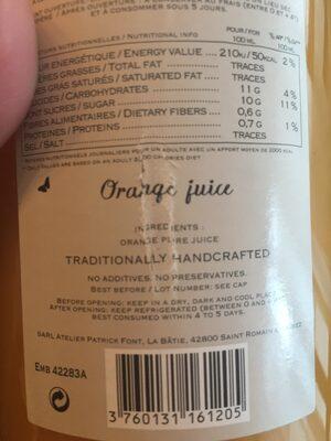 Jus d'orange - Ingrédients - fr