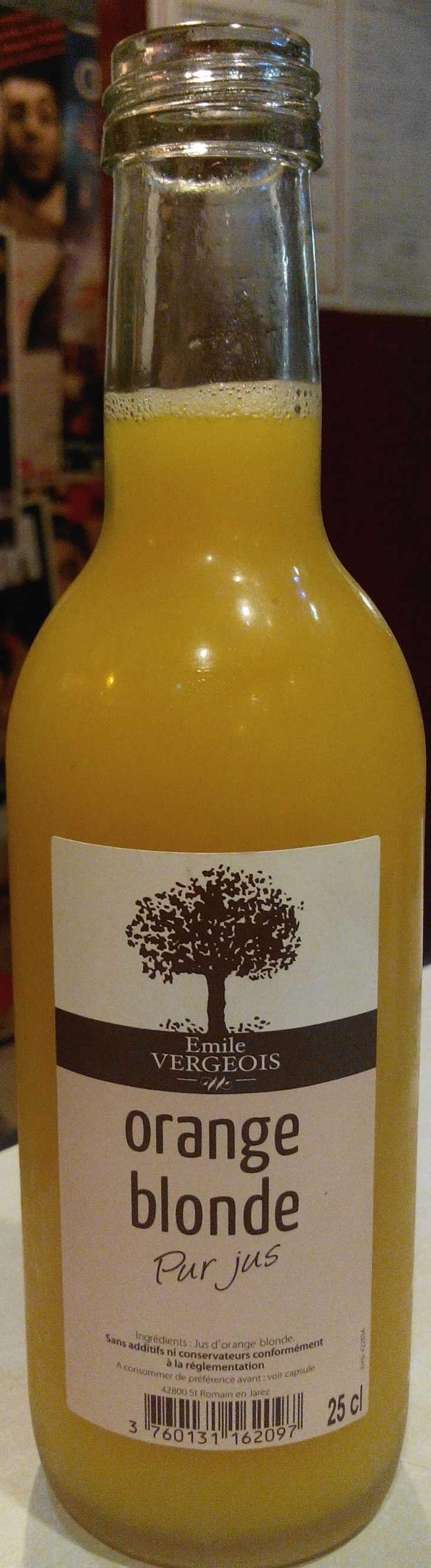 Orange blonde Pur Jus - Produit - fr