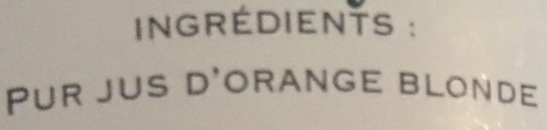 Orange blonde Pur Jus - Ingrédients - fr