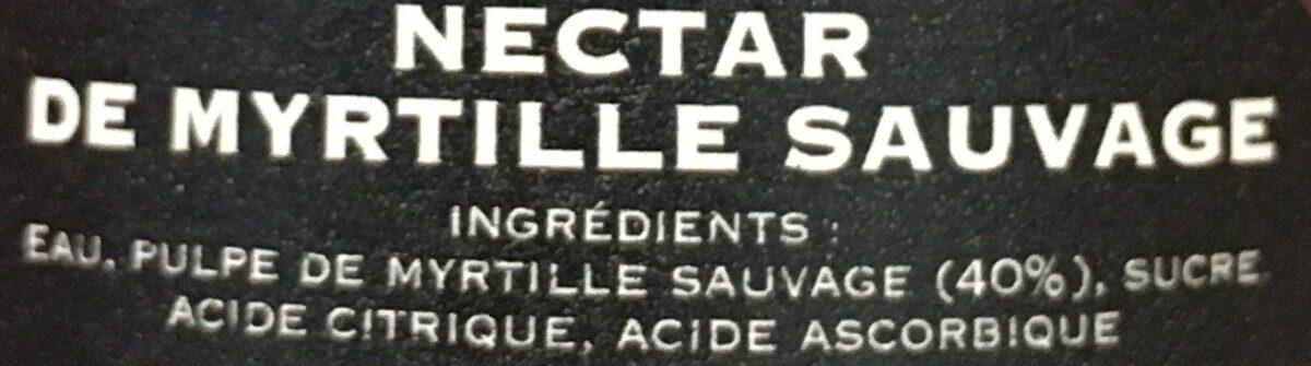 Nectar De Myrtille Sauvage D'ardeche-lozere 25CL - Ingredients - fr