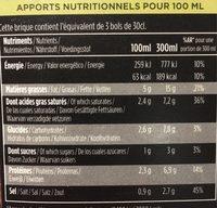 Soupe Courgette Parmesan Noisettes 1L - Informations nutritionnelles - fr