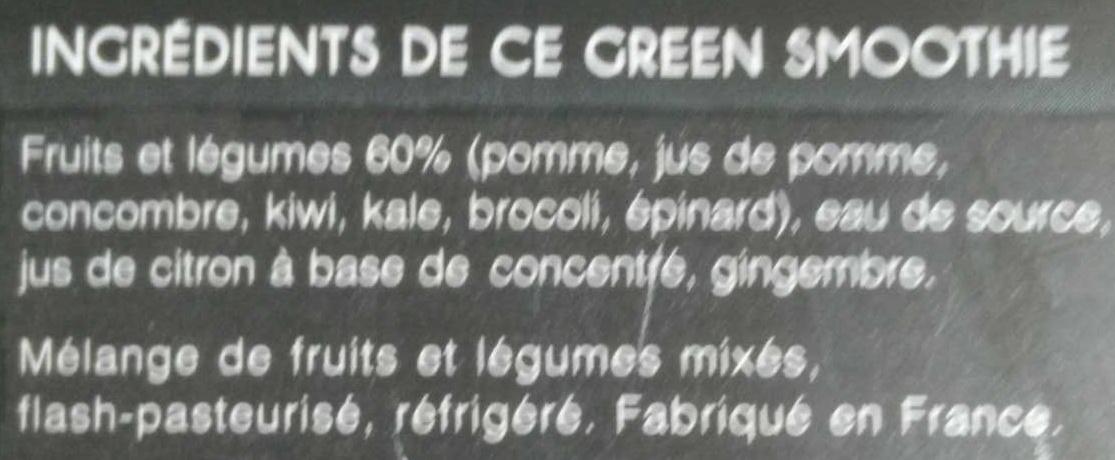 Kale Brocoli Kiwi - Ingrédients