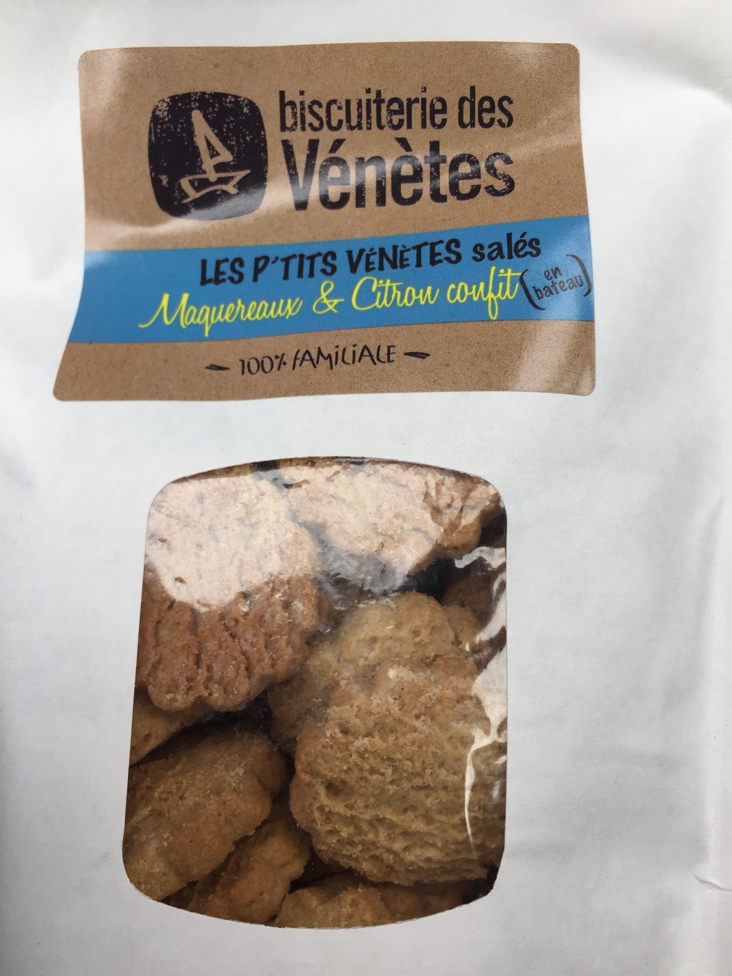 Les p'tits venetes salés Maquereaux & citron confit - Product
