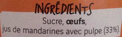 Crème de Mandarines - Ingrediënten