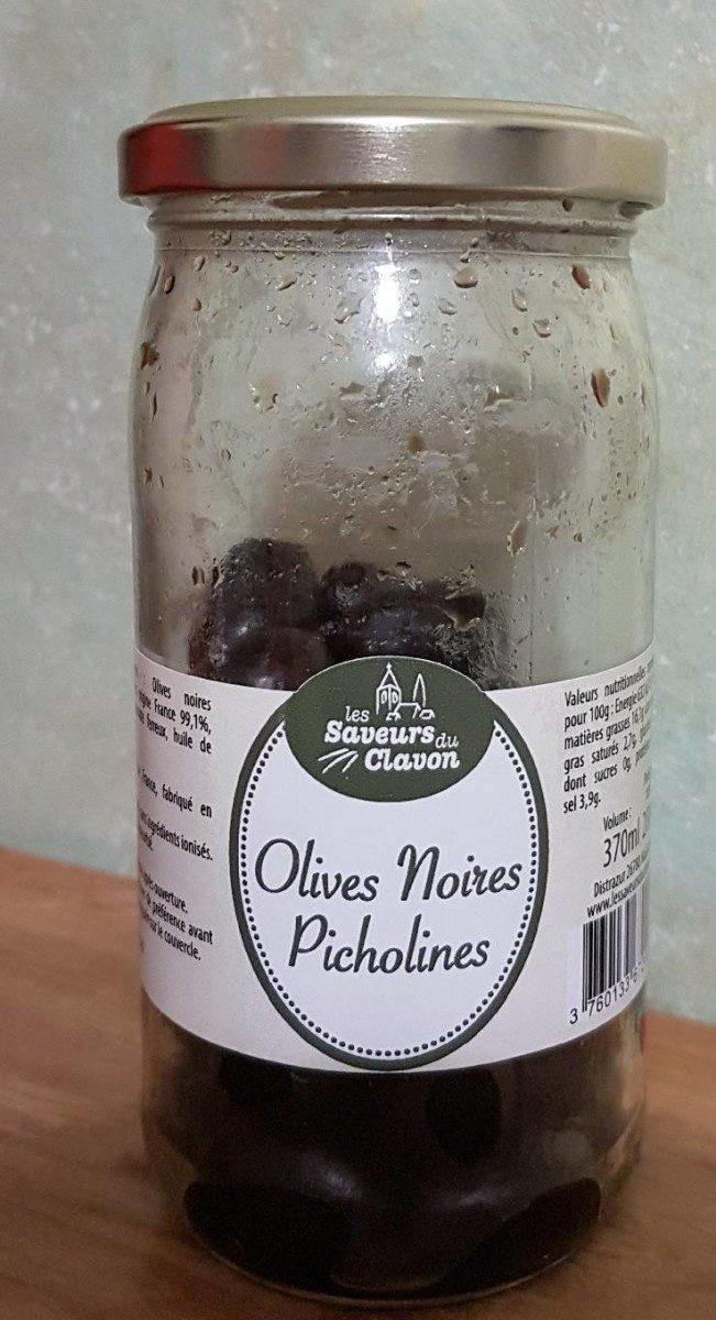 Olives Noires Picholines - Produit - fr