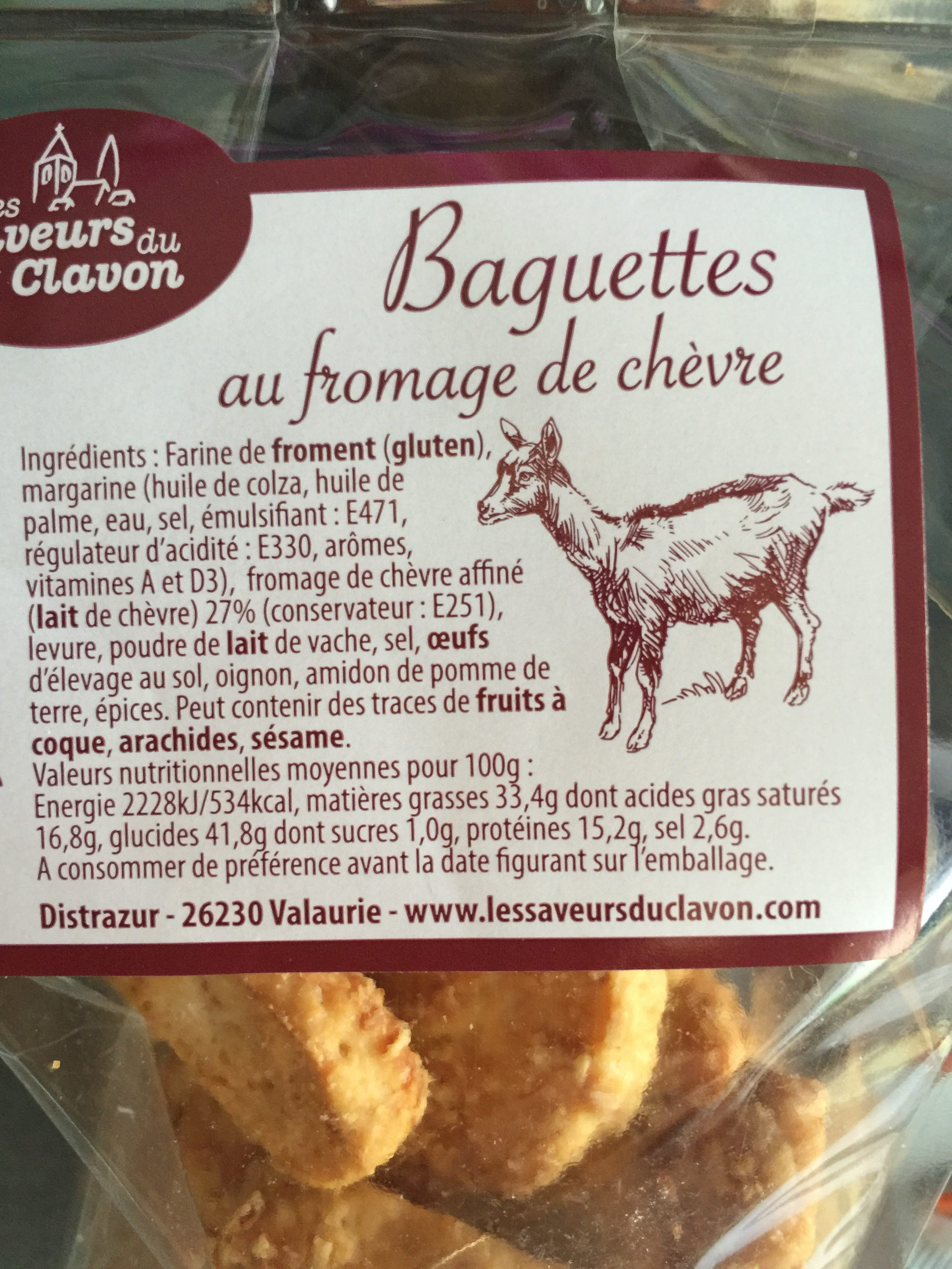 Baguette au fromage de chèvre - Ingrediënten - fr