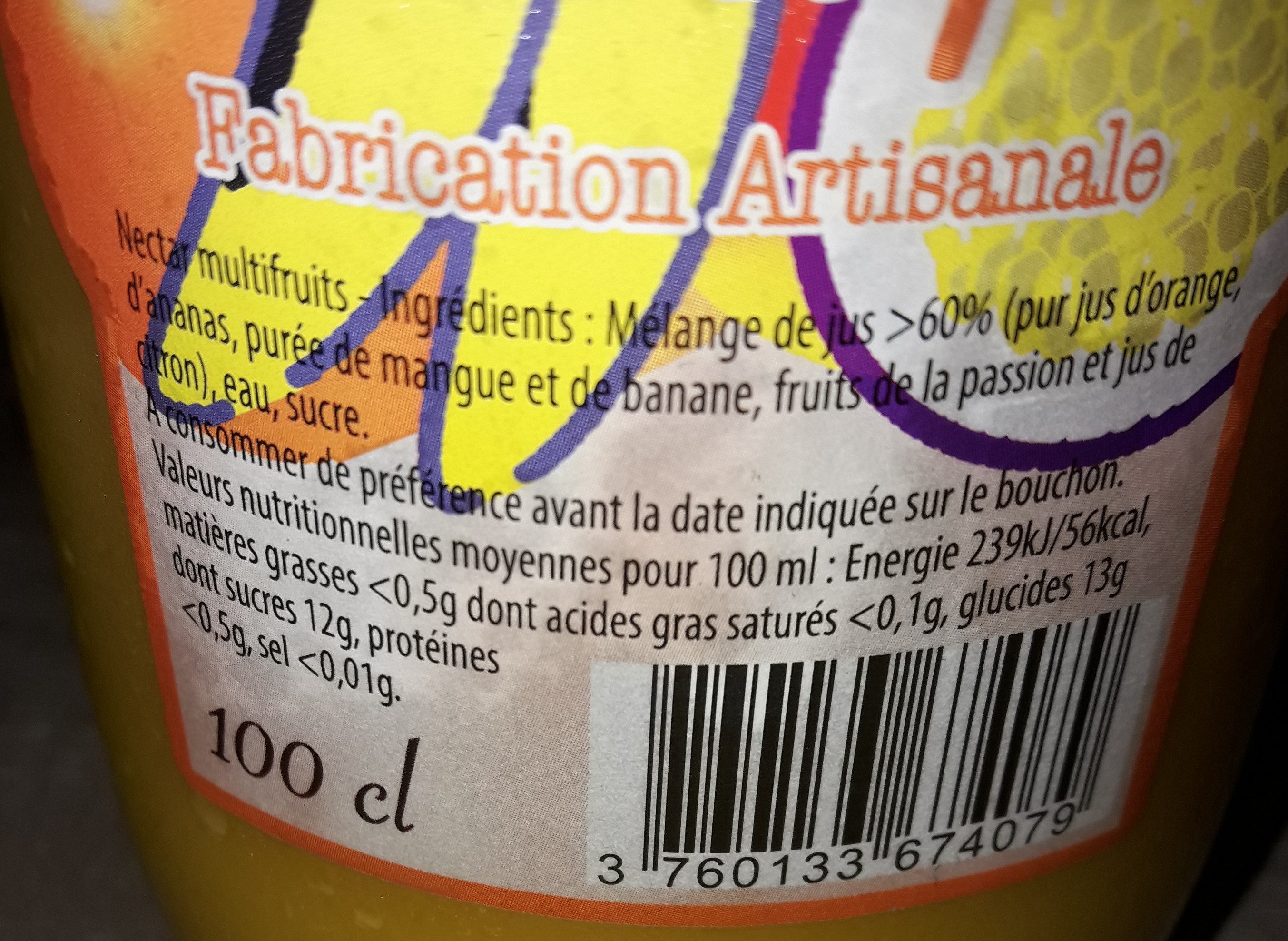 Cocktail exotique - Nutrition facts - fr