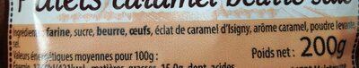 Palets caramel beurre salé - Ingrédients