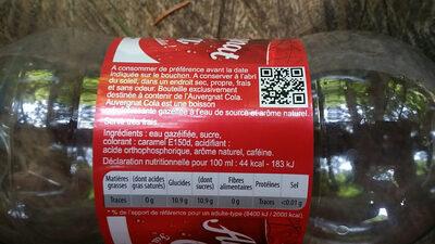 Auvergnat Cola - Ingredienti - fr