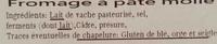 Petit Pont Cidre (24% MG) - Ingrediënten