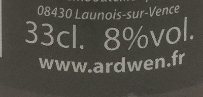 Ardwen hop's cure - Nutrition facts - fr