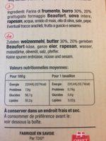 Travaillons Beaufort - Ingredients