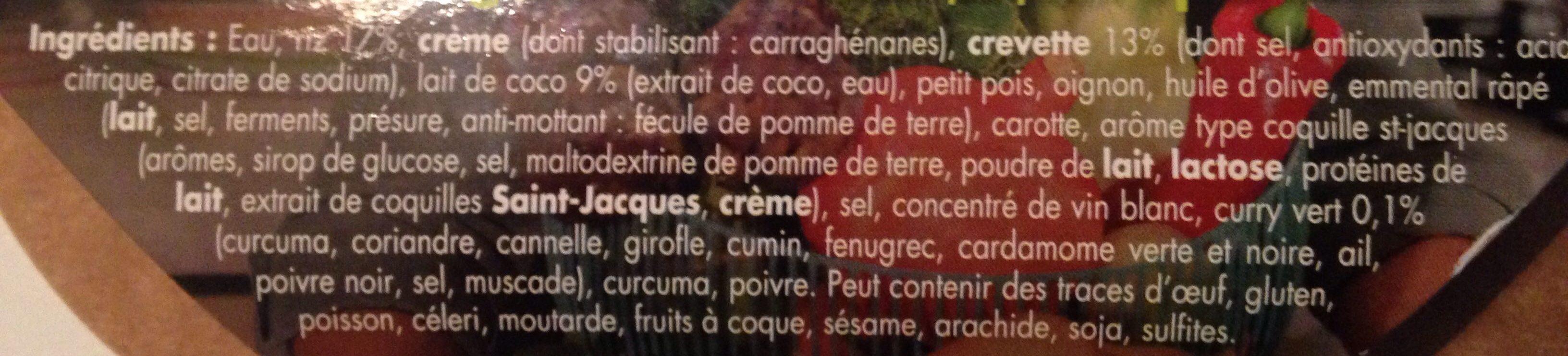 Risotto curry vert - Ingrediënten - fr