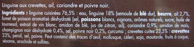 Linguine Chic (crevettes coriandre ail et poivre noir) - Ingrédients - fr