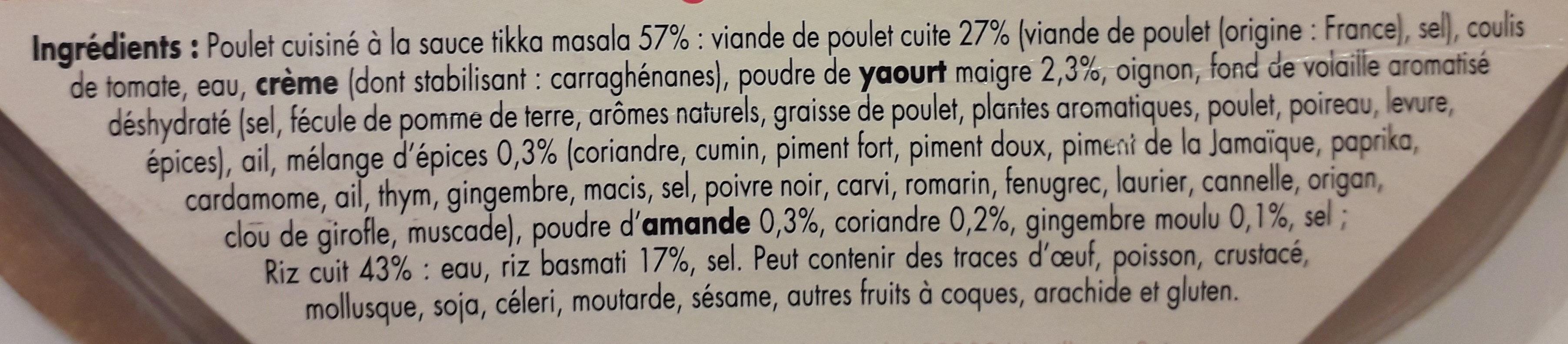 Poulet Tikka massala - Ingredients