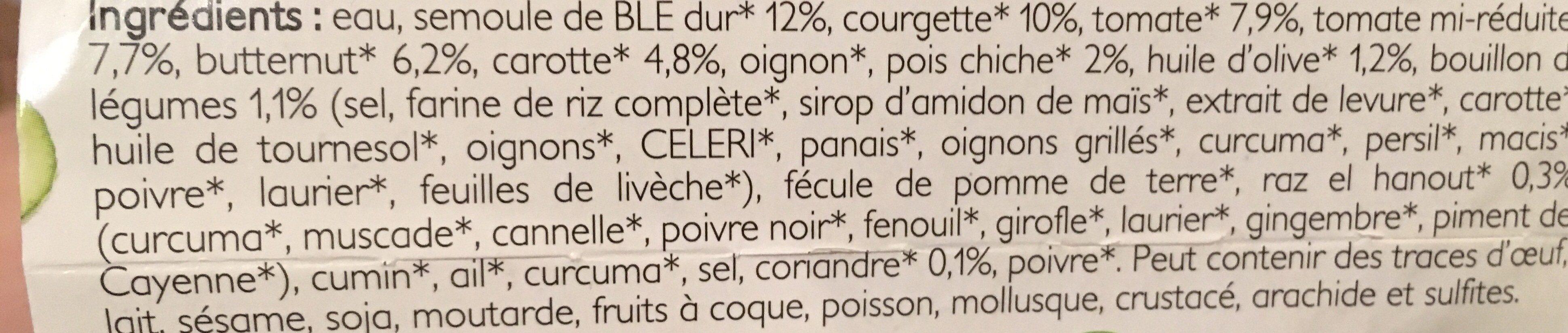 Couscous aux 5 Légumes - Ingredients - fr