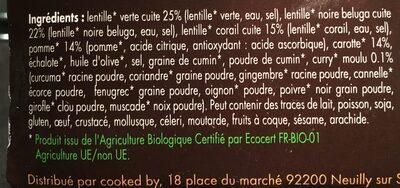 Salade 3 lentilles - Ingrédients - fr