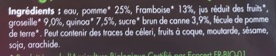 Dessert au Quinoa Framboise Groseille - Ingrédients - fr