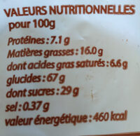 Canistrelli nature I NUCELLI - Nutrition facts - fr