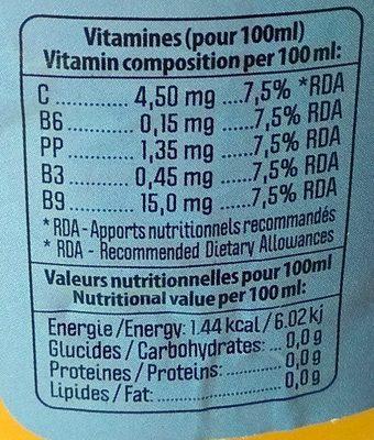 Multivitaminé tropical - Informations nutritionnelles