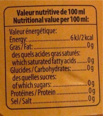 Multivitaminé mangue - Nutrition facts - fr