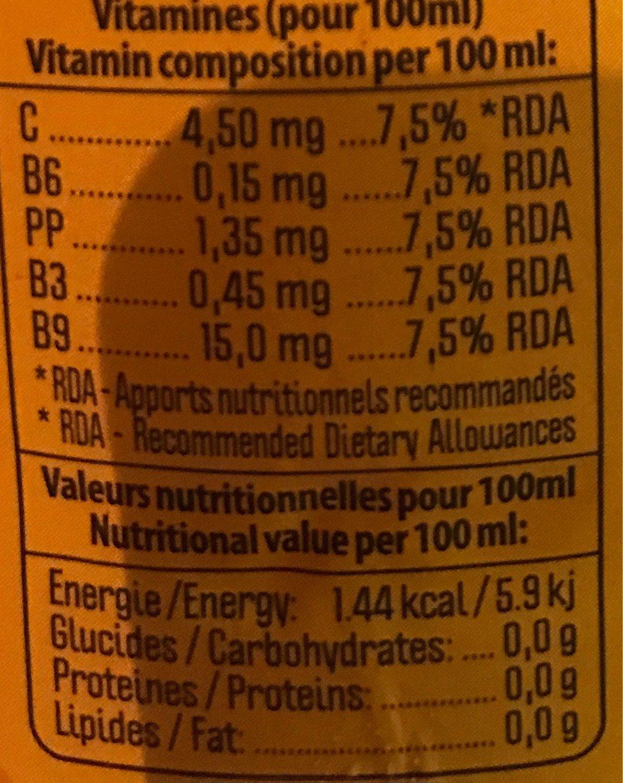 Multivitaminé mangue - Informations nutritionnelles