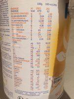 Prémilait 3 - Informations nutritionnelles - fr