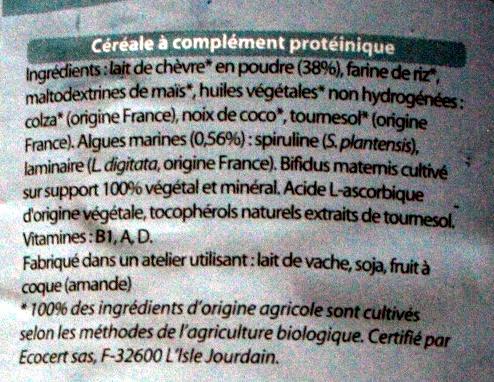 prémichèvre - Ingrédients - fr