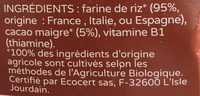 Céréales infantile Prémibio - Ingrédients