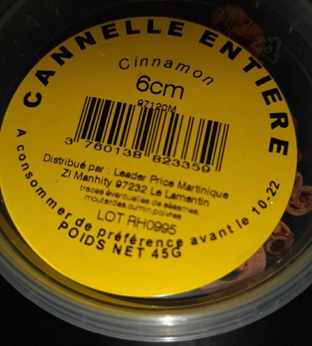 Les bonnes épices  cannelle entière - Informations nutritionnelles - fr