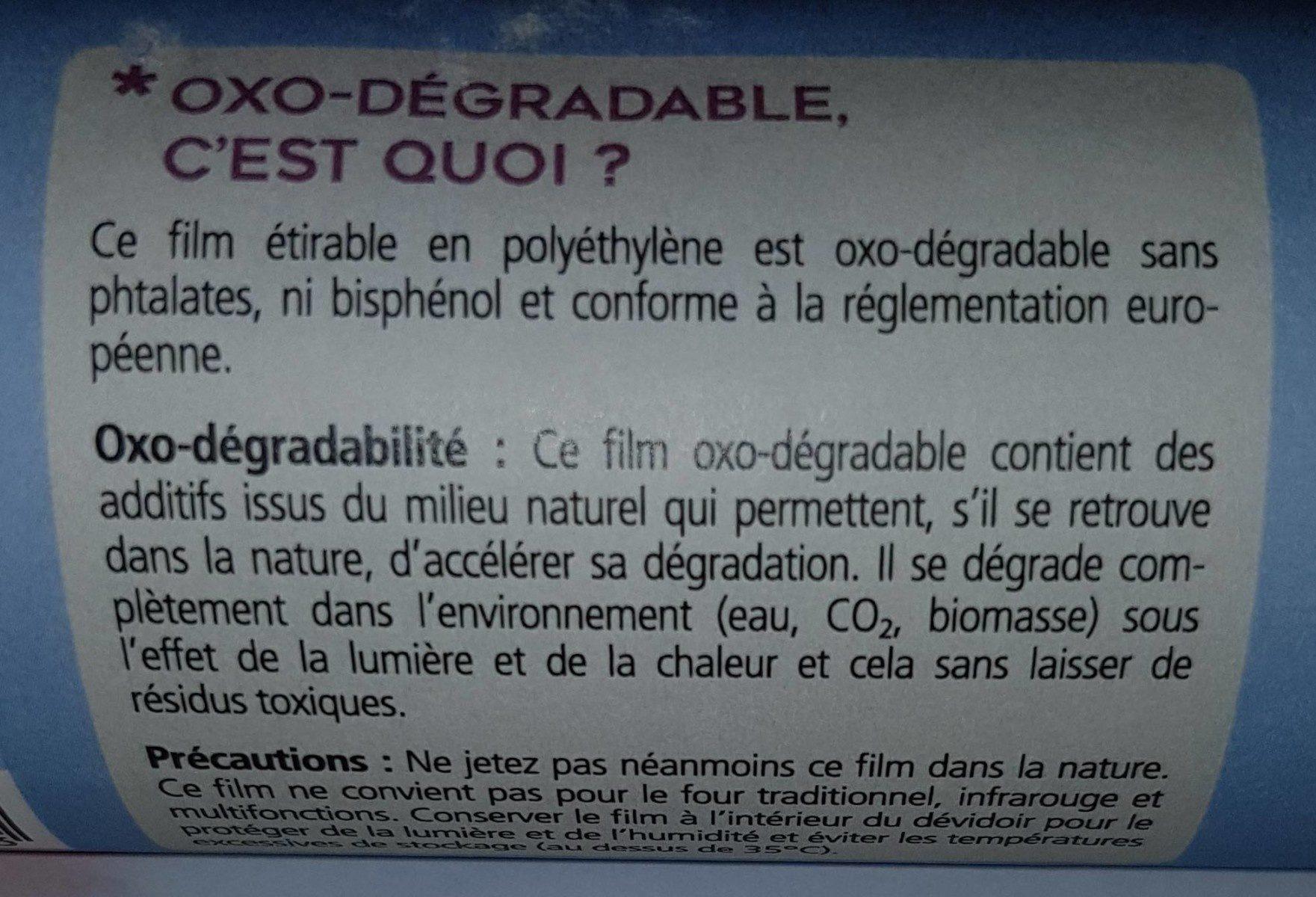 Recharge filme étirable oxo-dégradable - Ingredients - fr