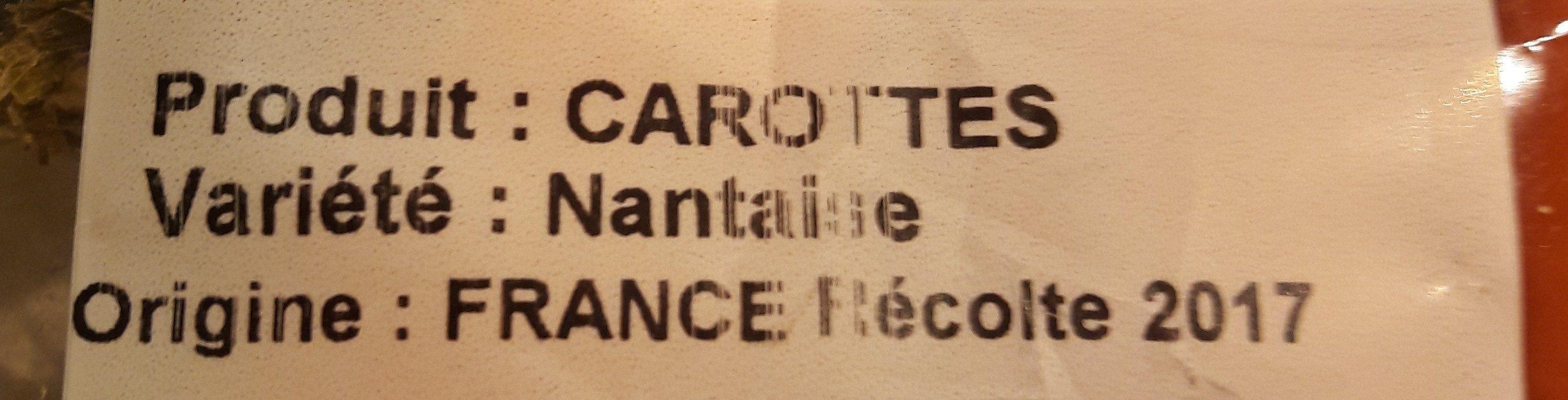 Carottes des sables de Camargue - Ingrédients - fr