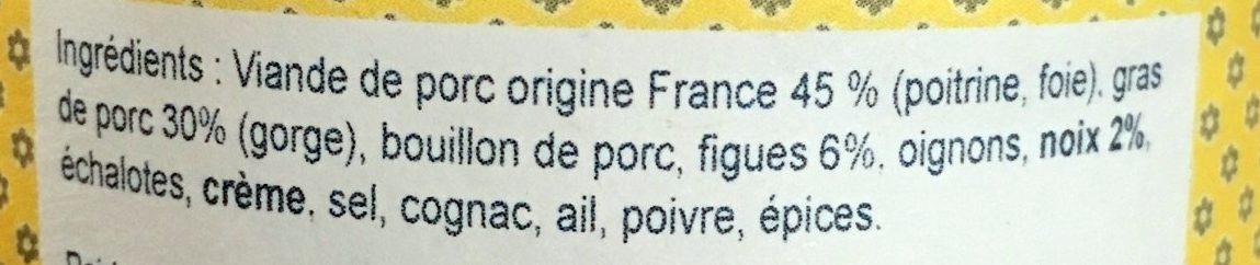 Petit Pâté Figue et Noix - Ingrédients