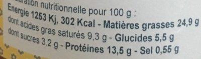 Petit Pâté Figue et Noix - Informations nutritionnelles