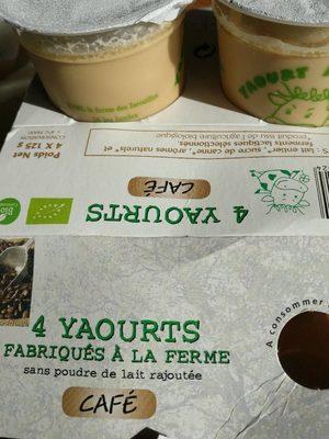Yaourts sans poudre de lait ajouté café - Product