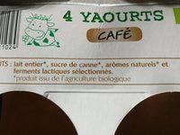 Yaourts sans poudre de lait ajouté café - Ingredients