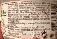 Chèvre frais - Ingredients - fr