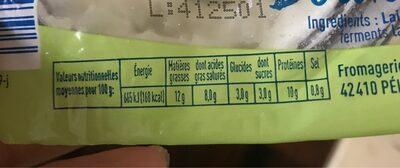 Fromage de chèvre - Nutrition facts - fr